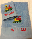 TRAIN PERSONALISED TOWEL SET